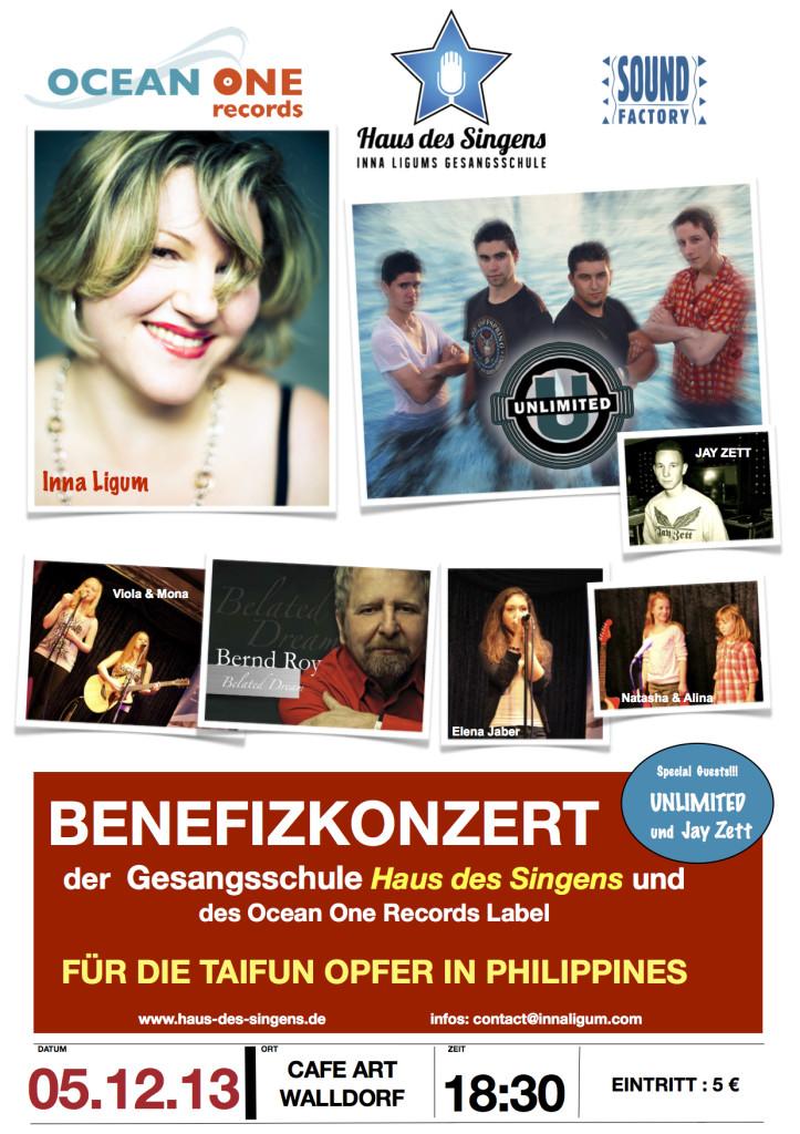 BENEFIZ Konzert Flyer